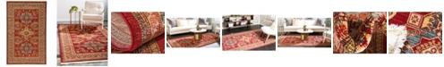 Bridgeport Home Harik Har5 Red 5' x 8' Area Rug
