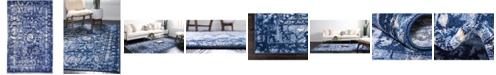 """Bridgeport Home Aldrose Ald3 Blue 3' 3"""" x 5' 3"""" Area Rug"""