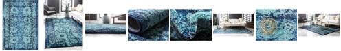 Bridgeport Home Sana San4 Turquoise 7' x 10' Area Rug