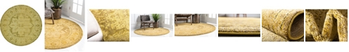Bridgeport Home Sana San6 Yellow 8' x 8' Round Area Rug