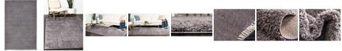 Bridgeport Home Salon Solid Shag Sss1 Dark Gray 5' x 8' Area Rug