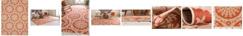 Bridgeport Home Pashio Pas5 Terracotta 9' x 12' Area Rug
