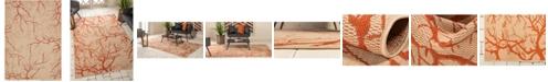 Bridgeport Home Pashio Pas6 Beige/Terracotta 7' x 10' Area Rug