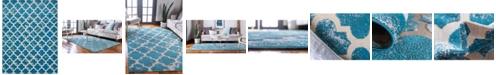 Bridgeport Home Pashio Pas2 Turquoise 9' x 12' Area Rug