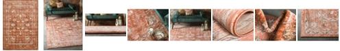 "Bridgeport Home Masha Mas3 Terracotta 8' x 11' 4"" Area Rug"