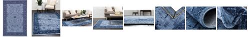 Bridgeport Home Aldrose Ald4 Blue 6' x 9' Area Rug