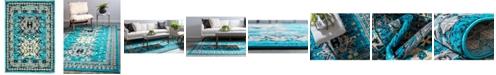 "Bridgeport Home Charvi Chr1 Turquoise 2' 2"" x 3' Area Rug"