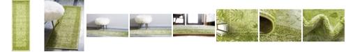 """Bridgeport Home Aldrose Ald4 Light Green 2' 2"""" x 6' Runner Area Rug"""