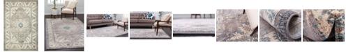 Bridgeport Home Bellmere Bel2 Gray 4' x 6' Area Rug