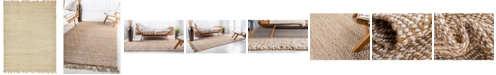 Bridgeport Home Braided Tones Brt3 Natural/White 9' x 12' Area Rug