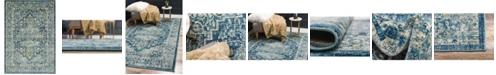 Bridgeport Home Masha Mas6 Navy Blue 7' x 10' Area Rug