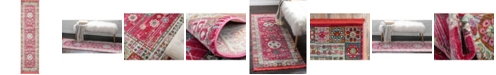 "Bridgeport Home Kenna Ken2 Pink 2' 7"" x 10' Runner Area Rug"