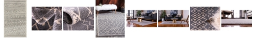 "Bridgeport Home Fio Fio2 Gray 3' 3"" x 5' 3"" Area Rug"