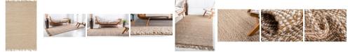 Bridgeport Home Braided Tones Brt3 Natural/White 6' x 9' Area Rug