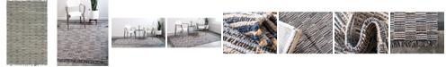 Bridgeport Home Jari Checkered Jar3 Blue 6' x 9' Area Rug