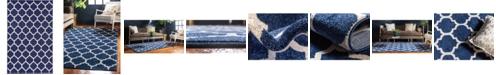 Bridgeport Home Arbor Arb1 Dark Blue 5' x 8' Area Rug