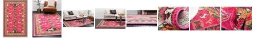 "Bridgeport Home CLOSEOUT! Arcata Arc7 Pink 10' 6"" x 16' 5"" Area Rug"
