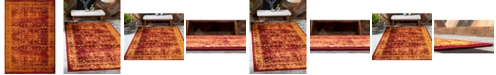 "Bridgeport Home Linport Lin1 Burgundy 8' x 11' 6"" Area Rug"