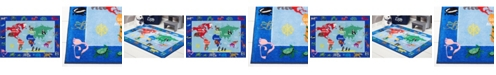 Eric Carle Home Dynamix Elementary World Map Blue Area Rug Collection