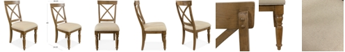 Furniture Aberdeen X-Back Upholstered Side Chair