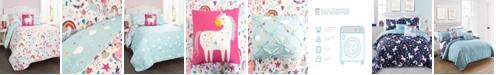 Lush Decor Unicorn Heart Reversible 4-Piece Twin Quilt Set