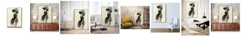 "Giant Art 24"" x 18"" Feather Hat II Art Block Framed Canvas"