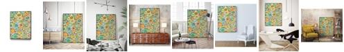 """Giant Art 40"""" x 30"""" Overlapping Ovals I Art Block Framed Canvas"""