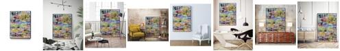 """Giant Art 24"""" x 18"""" Metro Mix 33 I Art Block Framed Canvas"""