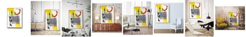 """Giant Art 40"""" x 30"""" Haiku I Art Block Framed Canvas"""