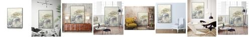 "Giant Art 14"" x 11"" Arabic Encaustic IV Art Block Framed Canvas"