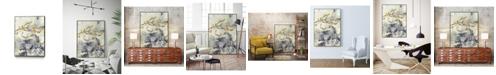 "Giant Art 40"" x 30"" Arabic Encaustic I Art Block Framed Canvas"