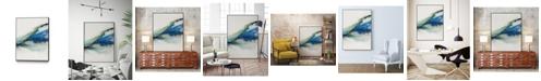 "Giant Art 40"" x 30"" Abstract Terrain IV Art Block Framed Canvas"