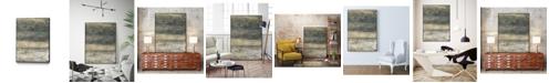 "Giant Art 28"" x 22"" Earthen Lines II Art Block Framed Canvas"