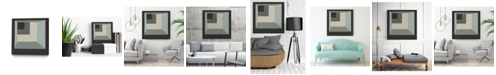 "Giant Art 20"" x 20"" Geometric Perspective I Art Block Framed Canvas"