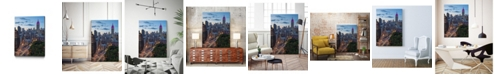 "Giant Art 20"" x 16"" Manhattan Skyline at Twilight Museum Mounted Canvas Print"