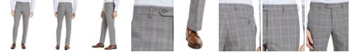 Michael Kors Men's Classic-Fit Airsoft Stretch Gray Plaid Wool Suit Pants