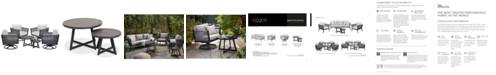 Furniture Braxtyn Outdoor 5-Pc. Seating Set (4 Swivel Chairs & Round Nesting Coffee Table) with Sunbrella® Cushions, Created for Macy's