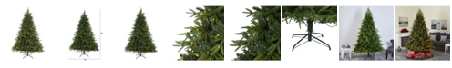 """Nearly Natural Colorado Mountain Fir """"Natural Look"""" Artificial Christmas Tree with 600 Clear LED Lights and 3048 Bendable Branches"""