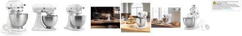 KitchenAid K45SSWH Classic 4.5-Qt. Stand Mixer