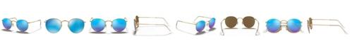 Ray-Ban Polarized Sunglasses, RB3447 ROUND FLASH LENSES