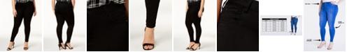 Celebrity Pink Trendy Plus Size Mid Rise Infinite Stretch Dawson Super-Skinny Jeans