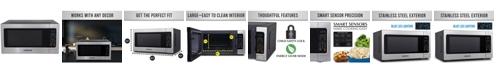 Farberware Professional FMO22ABTBKA 2.2 Cu. Ft. 1200-Watt Microwave Oven with Smart Sensor Cooking, Stainless Steel