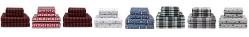 Elite Home Winter Nights Cotton Flannel Twin Sheet Set