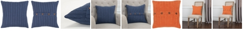 """Rizzy Home 18"""" x 18"""" Cable Knit Pillow Cover"""
