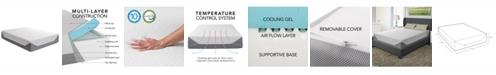"""CorLiving 14"""" Medium Firm Memory Foam Mattress, Queen"""