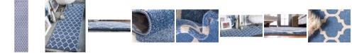 "Bridgeport Home Arbor Arb1 Light Blue 2' 7"" x 10' Runner Area Rug"