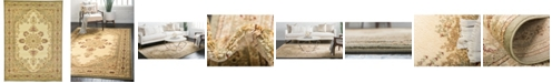 Bridgeport Home Belvoir Blv1 Ivory/Green 7' x 10' Area Rug