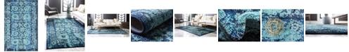 "Bridgeport Home Sana San4 Turquoise 10' 6"" x 16' 5"" Area Rug"