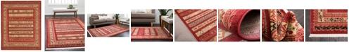 Bridgeport Home Ojas Oja4 Rust Red 8' x 10' Area Rug