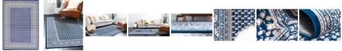 Bridgeport Home Axbridge Axb1 Blue 7' x 10' Area Rug